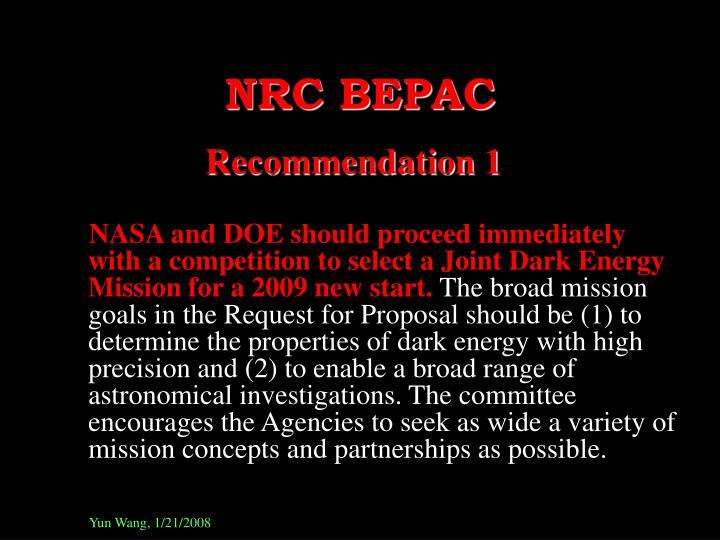 NRC BEPAC