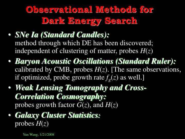 Observational Methods for
