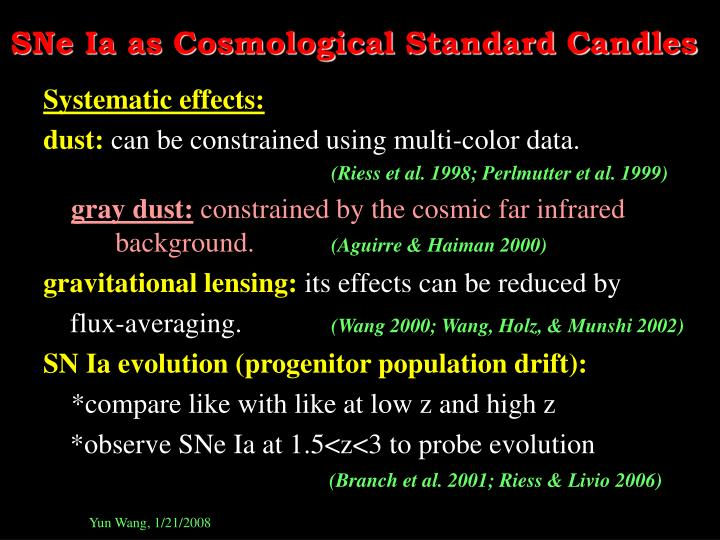 SNe Ia as Cosmological Standard Candles