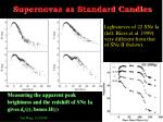 supernovae as standard candles