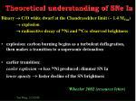 theoretical understanding of sne ia