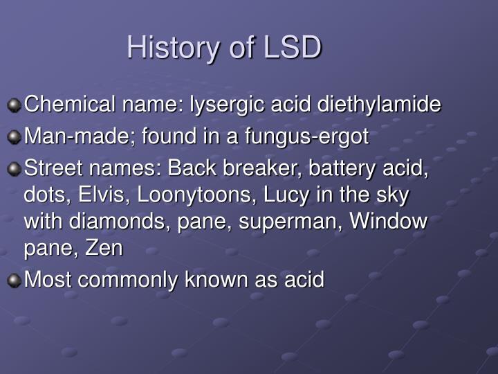 History of LSD