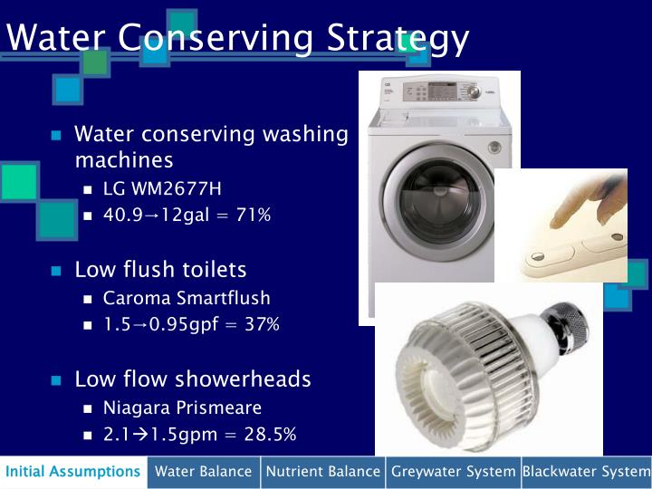 Water Conserving Strategy