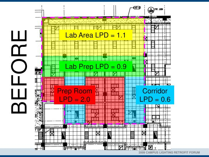 Lab Area LPD = 1.1