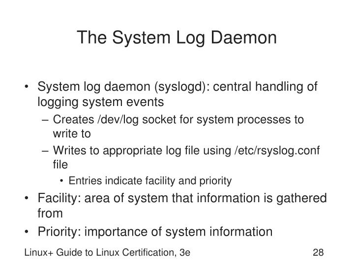 The System Log Daemon