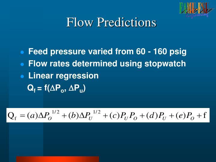 Flow Predictions