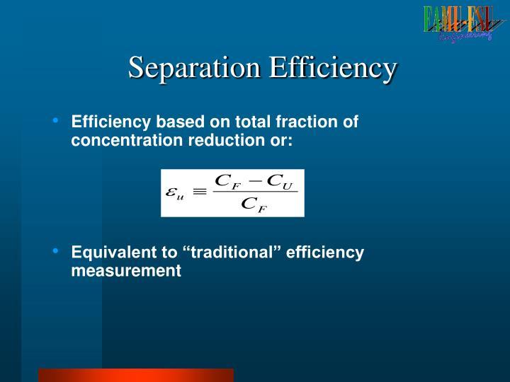 Separation Efficiency