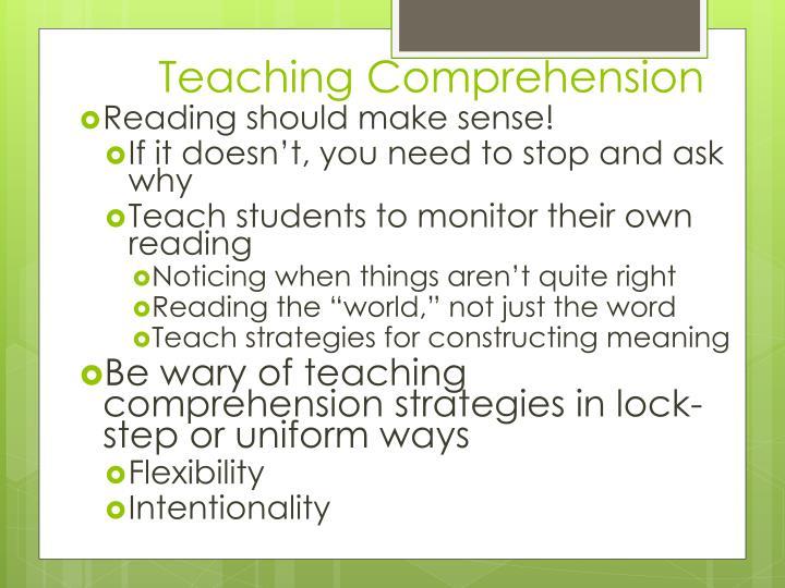 Teaching Comprehension