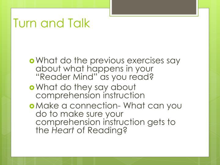 Turn and Talk
