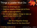 things a leader must do