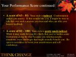 your performance score continued