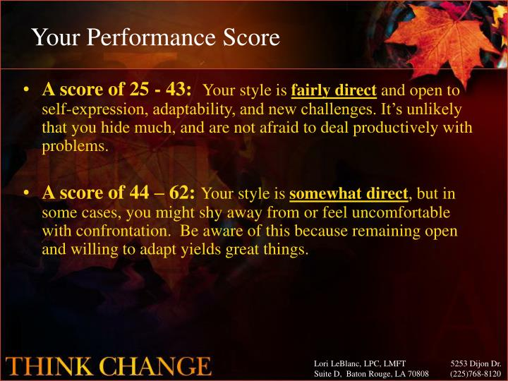 Your Performance Score