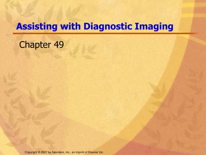 Assisting with diagnostic imaging