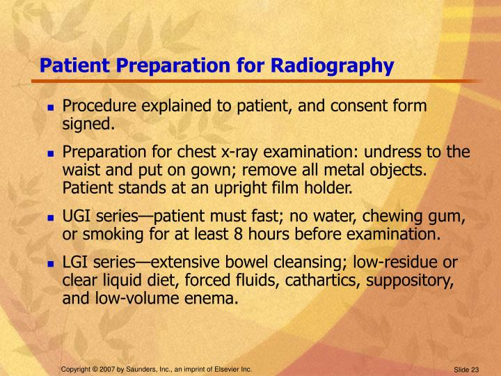 Patient Preparation for Radiography