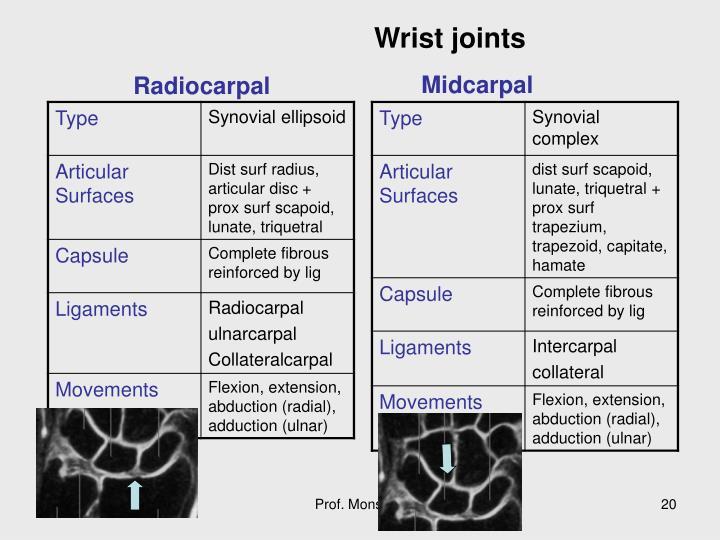 Wrist joints