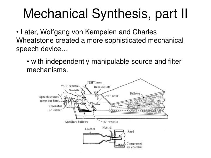 Mechanical Synthesis, part II
