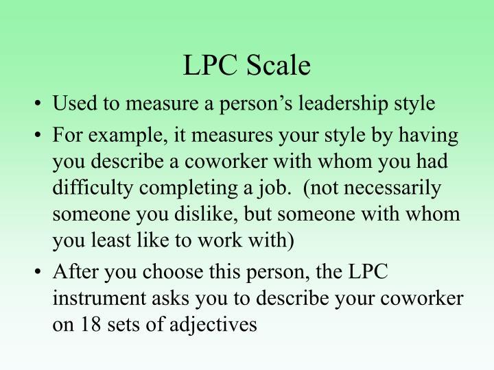 LPC Scale