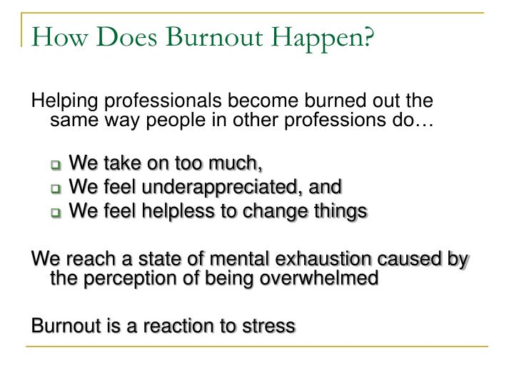How Does Burnout Happen?