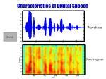 characteristics of digital speech