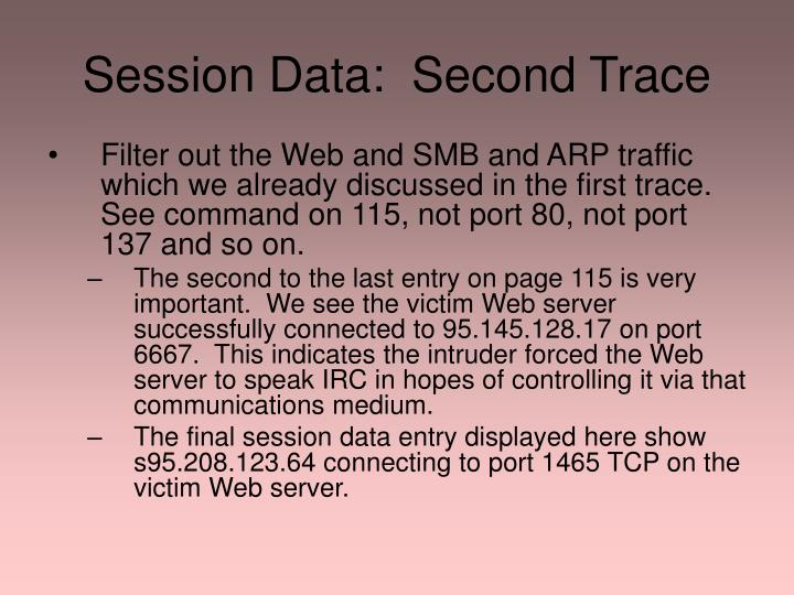 Session Data:  Second Trace