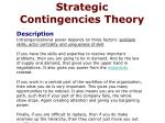 strategic contingencies theory