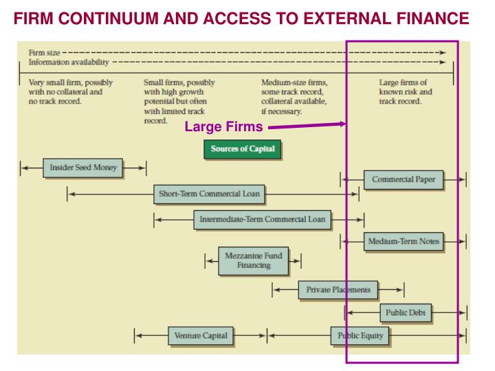 FIRM CONTINUUM AND ACCESS TO EXTERNAL FINANCE