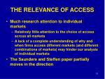 the relevance of access