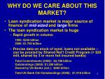 why do we care about this market