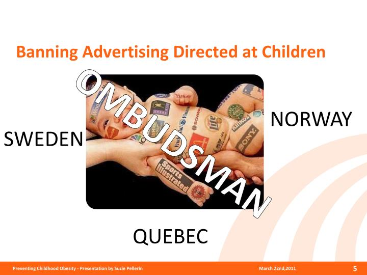Banning Advertising Directed at Children