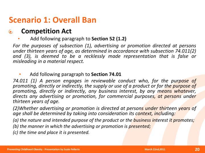 Scenario 1: Overall Ban