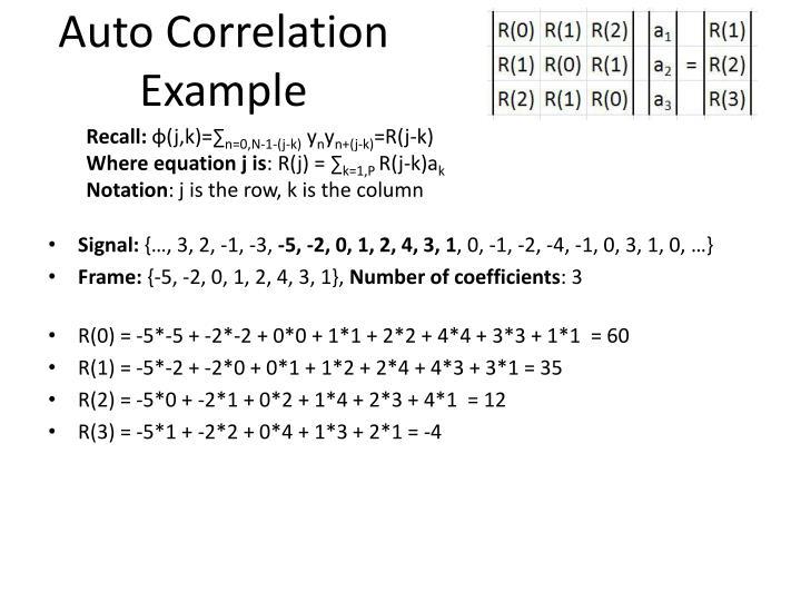 Auto Correlation Example