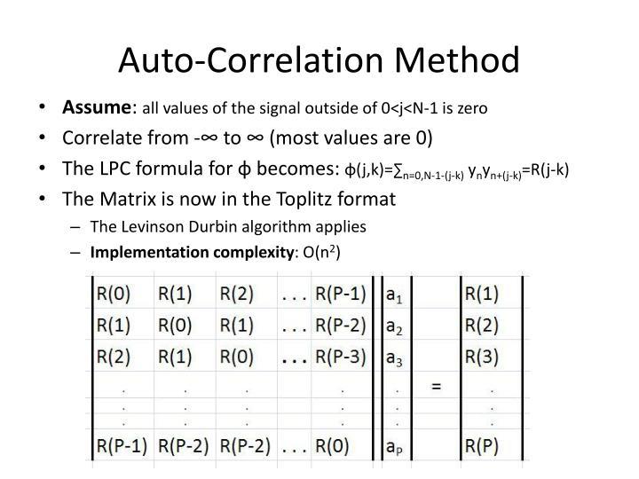Auto-Correlation Method