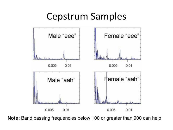 Cepstrum Samples