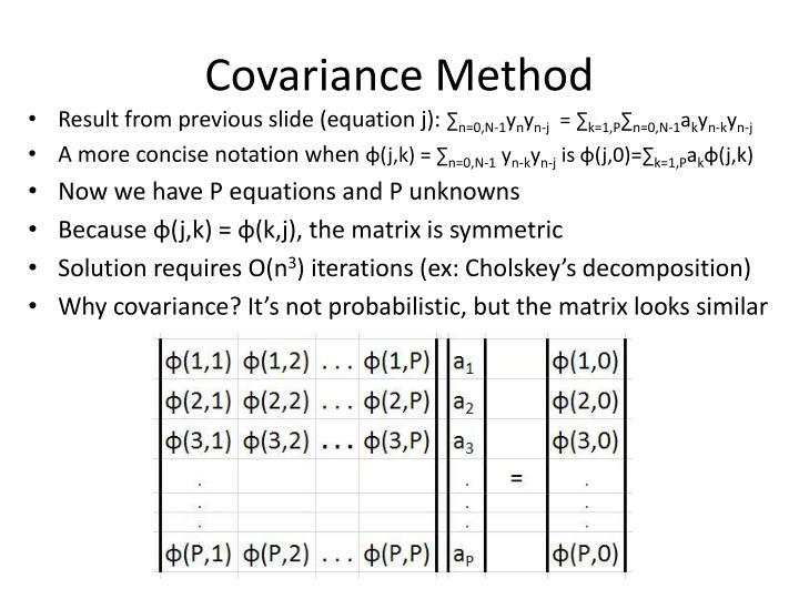 Covariance Method