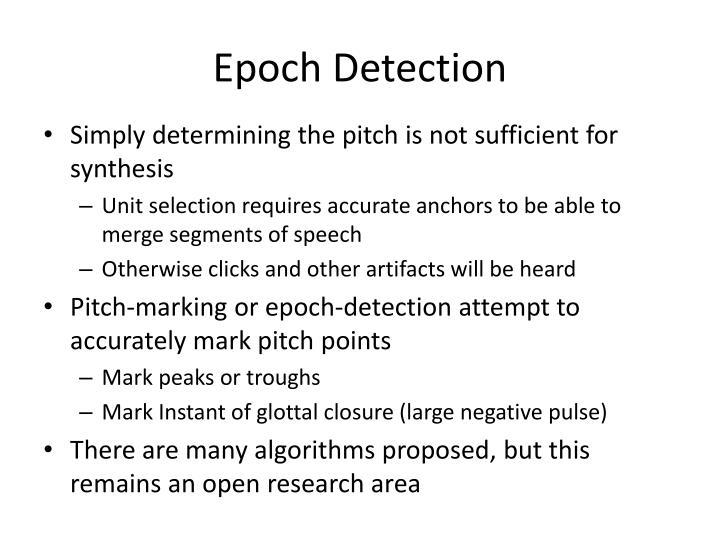 Epoch Detection