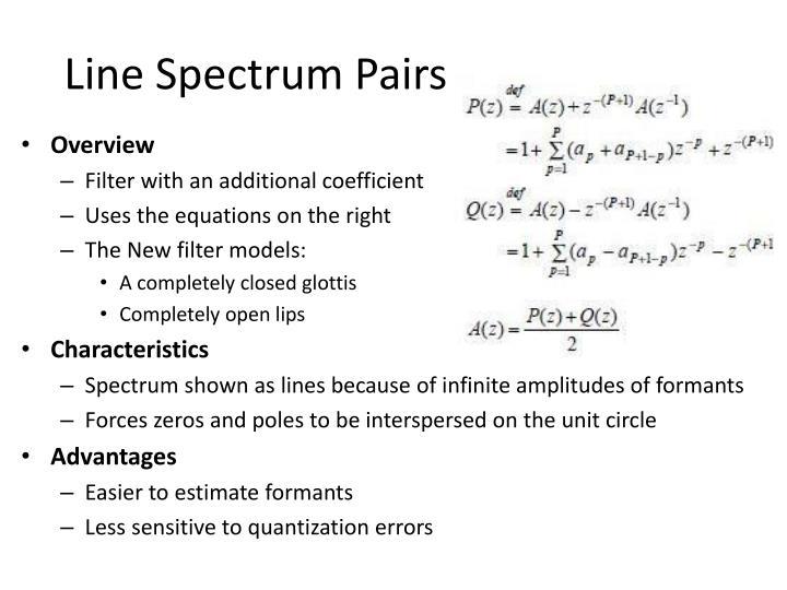 Line Spectrum Pairs