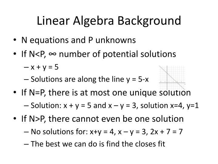 Linear Algebra Background
