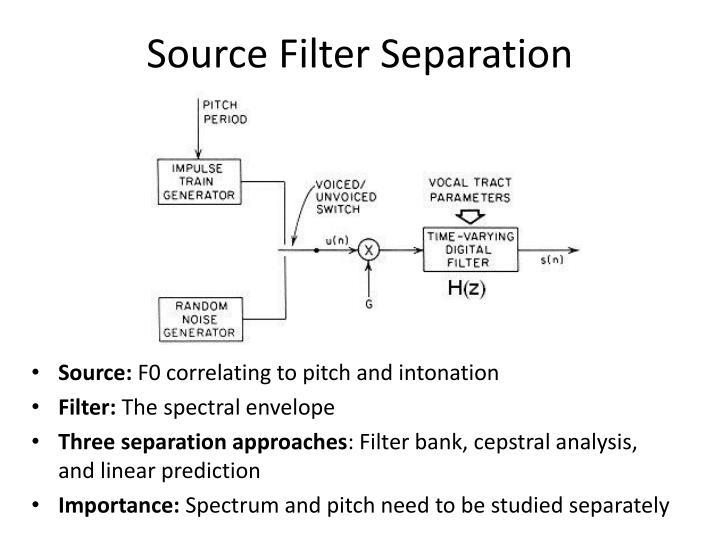 Source Filter Separation