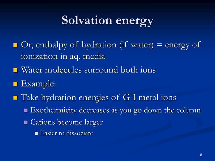 Solvation energy