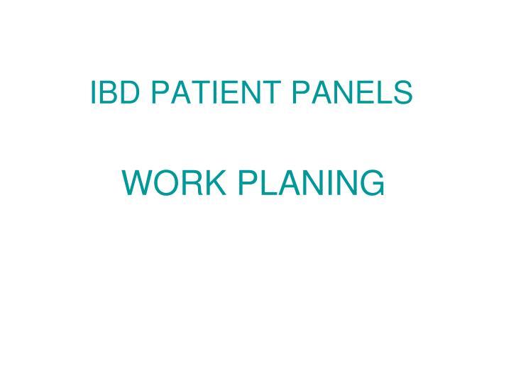 IBD PATIENT PANELS