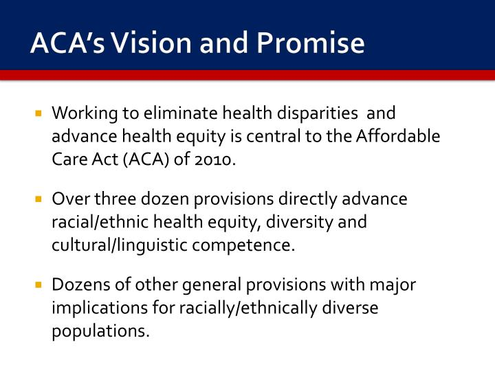 ACA's Vision and Promise