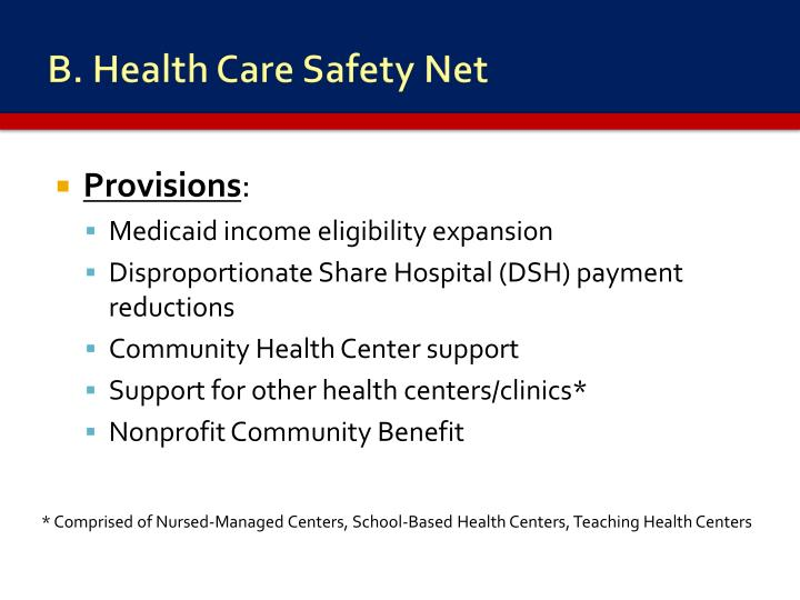B. Health Care Safety Net