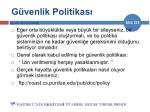 g venlik politikas