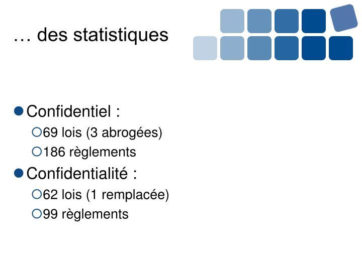 … des statistiques