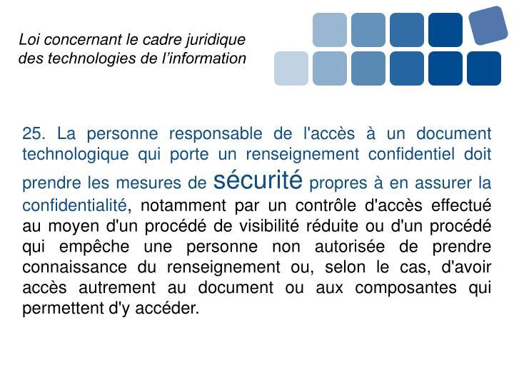 Loi concernant le cadre juridique des technologies de l'information