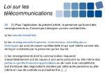 loi sur les t l communications