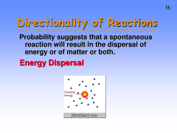 Directionality of Reactions