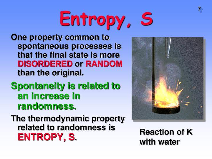 Entropy, S