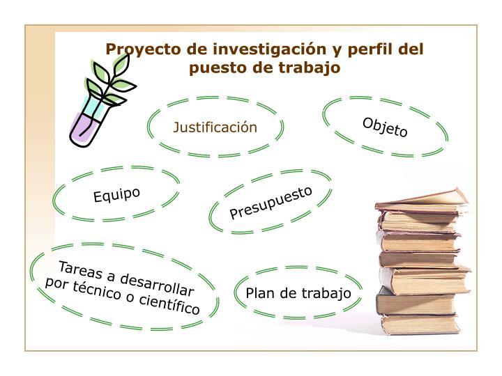 Proyecto de investigación y perfil del puesto de trabajo