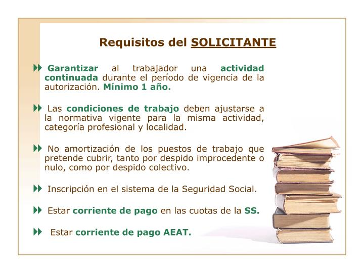 Requisitos del